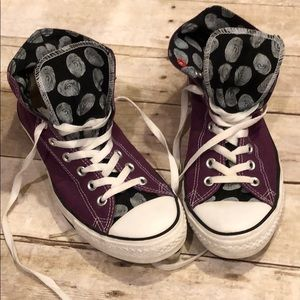 Converse All Star (Red) purple high tops Men's 9